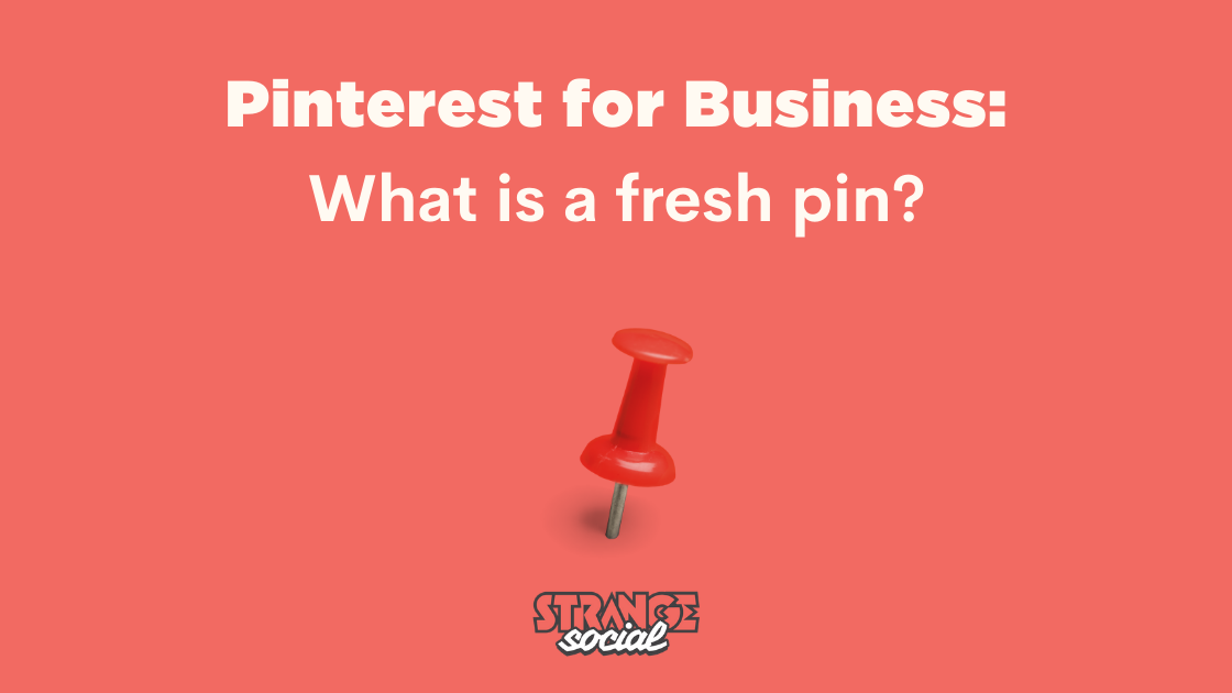 Red background with the title: What is a fresh pin? Pinterest for business