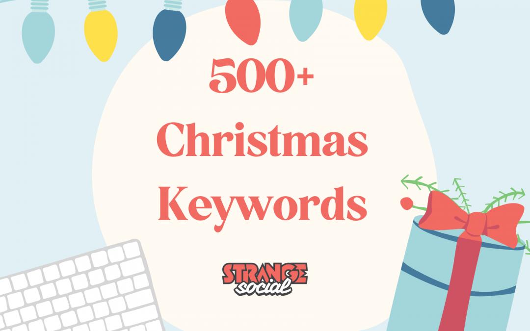500+ Pinterest Keywords for Christmas